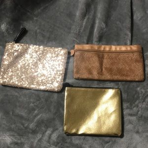Woman's small makeup or clutch bags